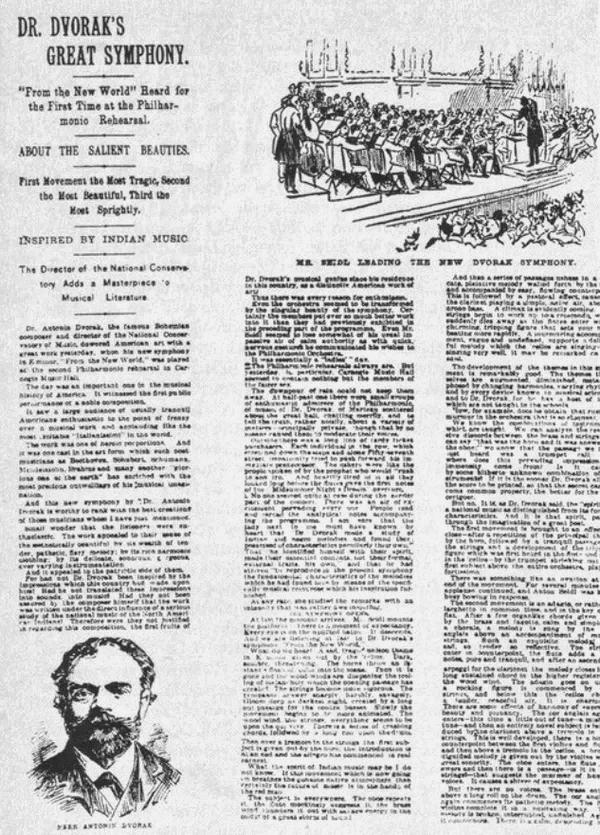 Premières auditions de la Symphonie du Nouveau Monde - The New York Herald, 16 décembre 1893