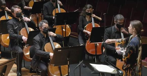 E-CONCERT, STREAMING, critique. LILLE, Nouveau Siècle, le 3 avril 2021. « Enchantements », Wagner, Sibelius / I. Brimberg / Orchestre National de Lille, D. Stasevska