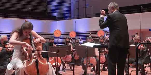 COMPTE-RENDU, live streaming concert. LILLE, le 12 mai 2021. Chostakovitch, Beethoven. Orchestre National de Lille. Anastasia Kobekina, violoncelle. Jean-Claude CASADESUS.