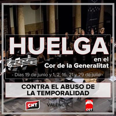 EL COR DE LA GENERALITAT EN HUELGA