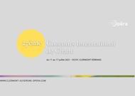 Français - Le 27ème concours international de chant – Vichy et Clermont-Ferrand se tiendra du 12 au 17 juillet