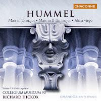Hummel: Mass in D, Mass in Bb, Alma Virgo (Richard Hickox, Collegium Musicum 90)