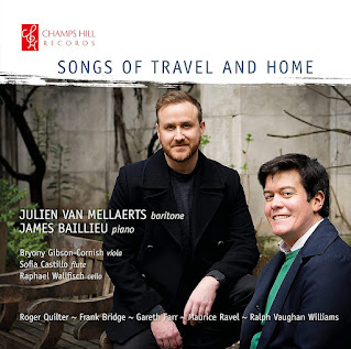 Not just a fine debut recital: Julian Van Mellaerts & James Baillieu are joined by family & friends for their exploration of Songs of Travel and Home on Champs Hill Records