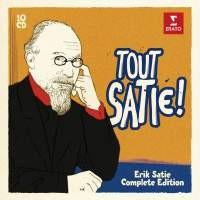 CD, annonce. Tout Satie !… en 10 cd. Coffret 10 cd Erato