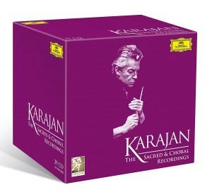 CD coffret événement. KARAJAN : Sacred & choral recordings on Deutsche Grammophon / Oeuvres sacrées et chorales enregistrées chez Deutsche Grammophon (1961 – 1985). 29 cd Deutsche Grammophon.