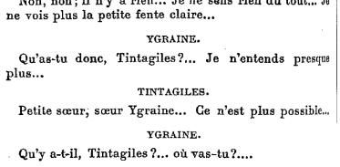 Maurice Maeterlinck – Trois petits drames pour marionnettes : Tintagiles, Intérieur, Alladine (1894)