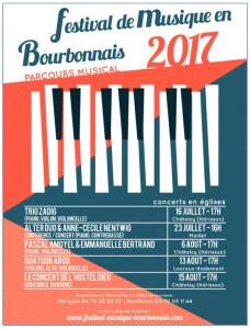 MUSIQUE EN BOURBONNAIS, premier concert à CHÂTELOY. TRIO ZADIG, le 16 juillet 2017, 17h. Schubert, Beethoven