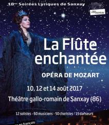 SANXAY 2017 : La Flûte enchantée au Théâtre Gallo Romain. ENTRETIEN avec Christophe Blugeon, directeur artistique