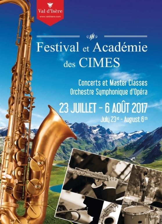 VAL D'ISERE, Festival LES CIMES jusqu'au 6 août 2017