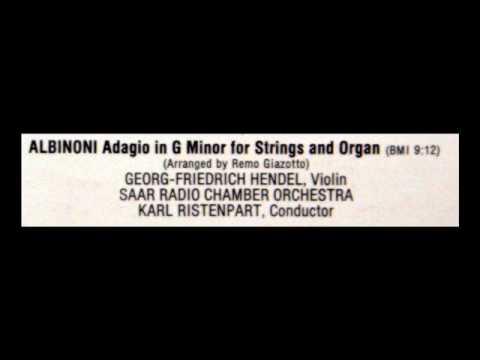 Albinoni / Karl Ristenpart, 1959: Adagio in G Minor - Saar Chamber Orchestra, Vinyl LP