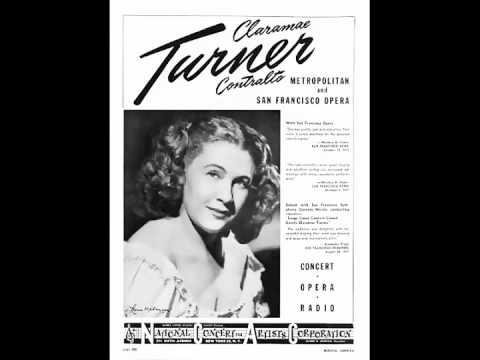 American Contralto Claramae Turner ~ Mon cœur s'ouvre à ta voix  (1950)