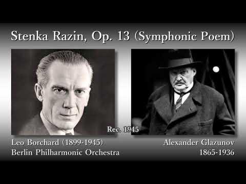Glazunov: Stenka Razin, Borchard & BPO (1945) グラズノフ 交響詩ステンカ・ラージン ボルヒャルト