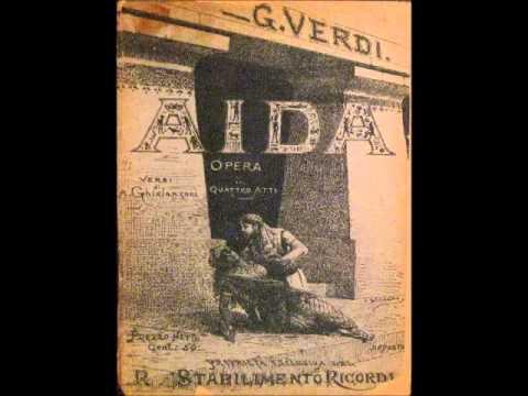 "Mascagni conducts Verdi's Ballet music from ""Aida"""