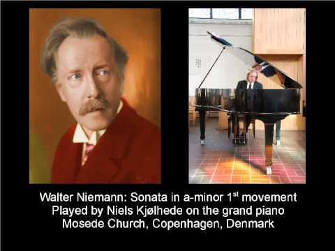 Walter Niemann: Piano Sonata a-minor, 1st movement; Niels Kjølhede