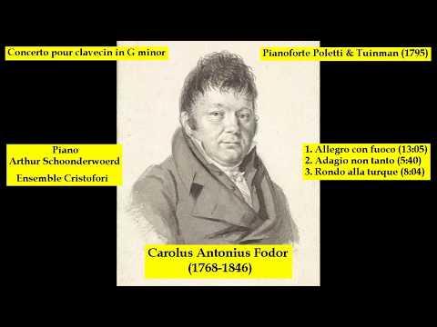 Carolus Antonius Fodor (1768-1846) - Concerto pour clavecin in G minor Op. 12