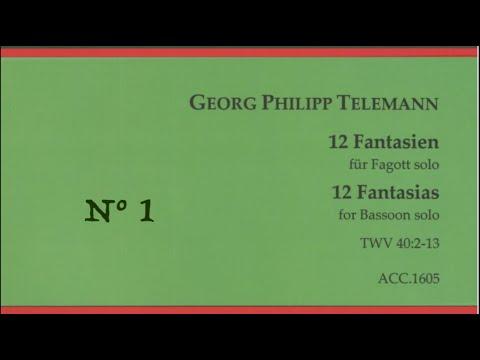Telemann, Georg Philipp: 12 Fantasias for Bassoon, Fantasia N° 1