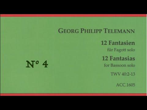 Telemann, Georg Philipp: Fantasia N° 4