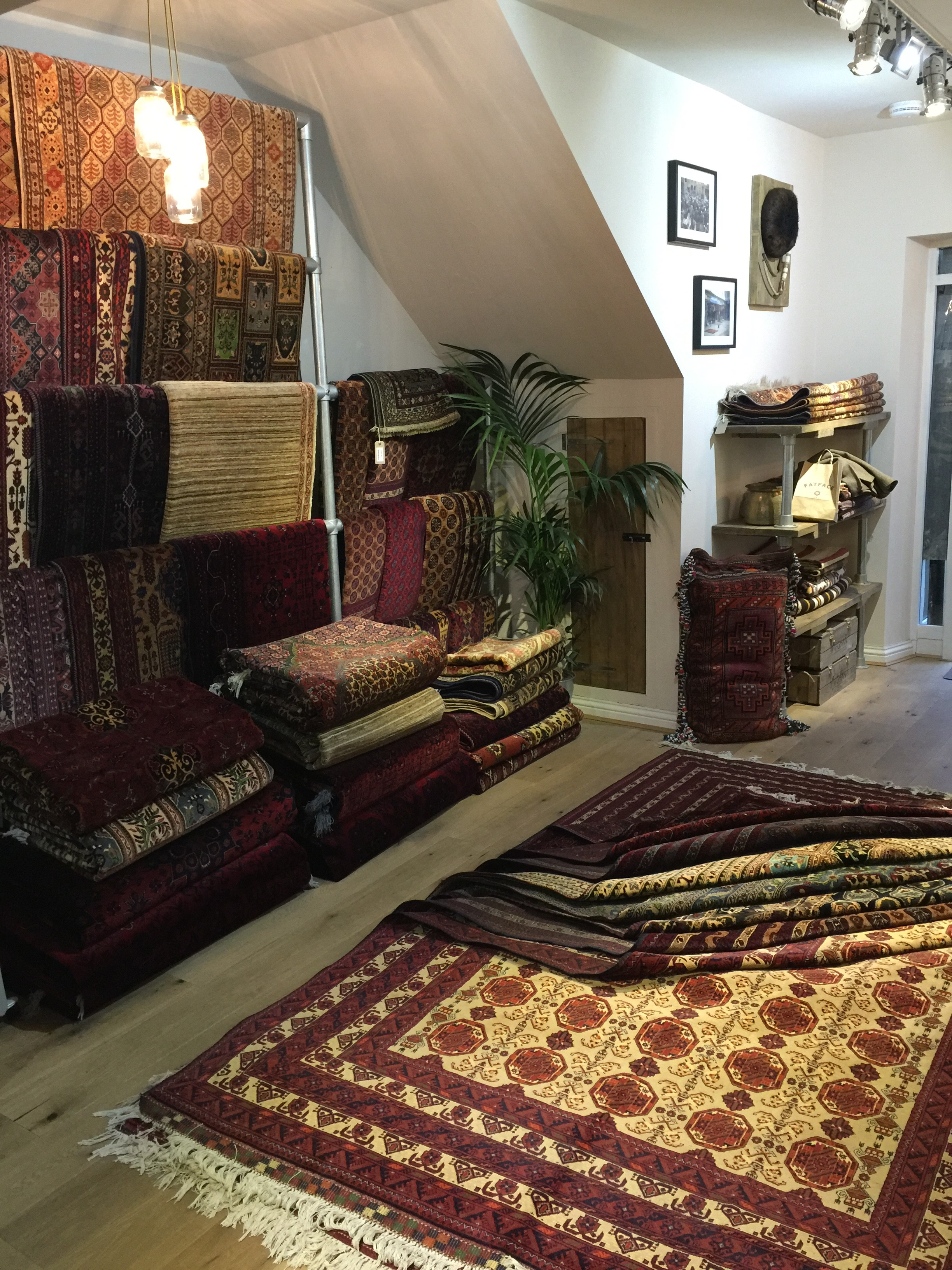 Afghan rug shop 2- interior