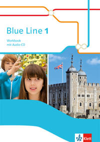 Blue Line 1: Workbook mit Audio-CD Klasse 5 (Blue Line. Ausgabe ab 2014)
