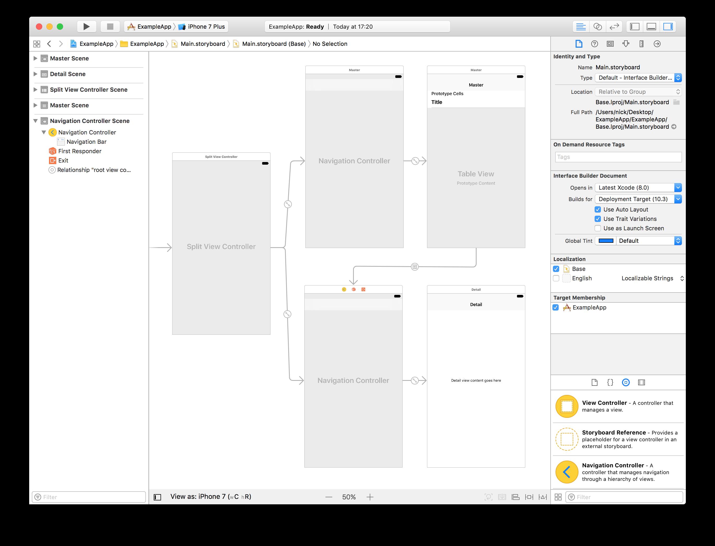 Apple's Interface Builder