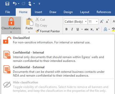 Document Classification Software Egress Switch