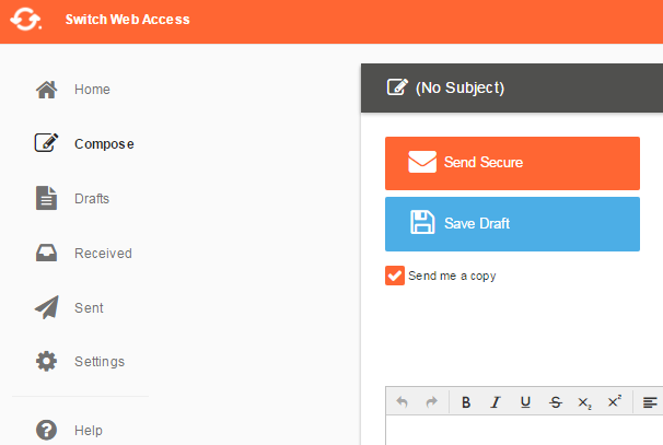 Switch Secure Email Web Client
