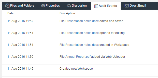 Switch Secure Workspace auditing