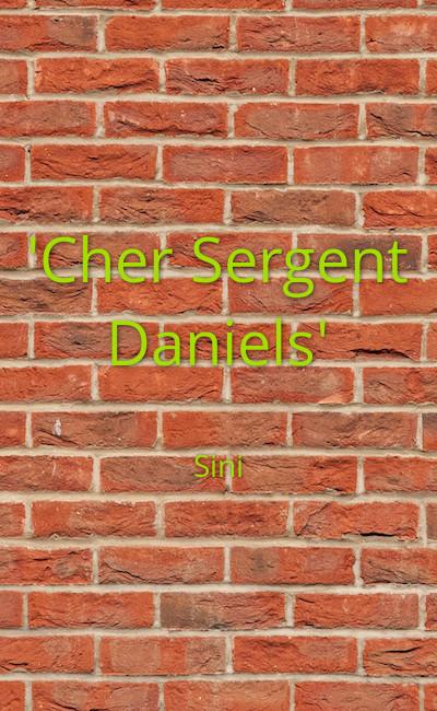 """Image de couverture de """"Cher Sergent Daniels"""""""