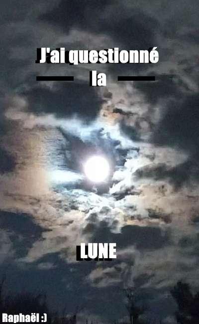 Image de couverture de J'ai questionné la Lune