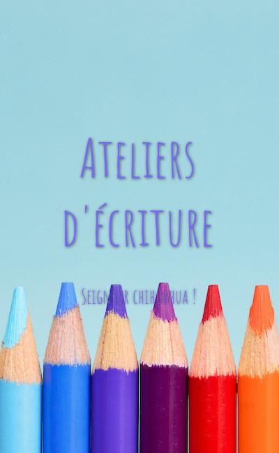 Image de couverture de Ateliers d'écriture