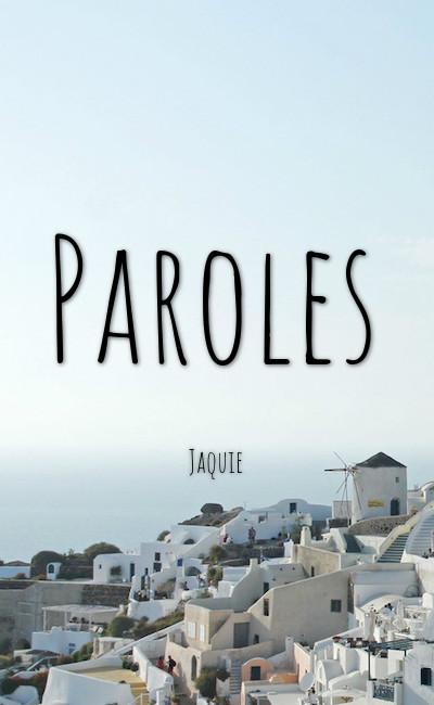 Image de couverture de Paroles