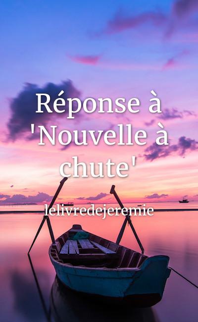 """Image de couverture de Réponse à """"Nouvelle à chute"""""""