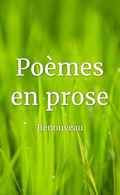 Image de couverture de Poèmes en prose