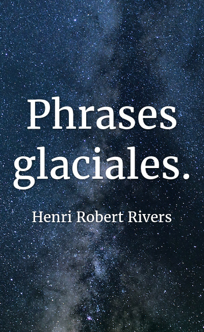 Image de couverture de Phrases glaciales.