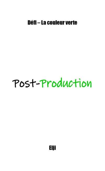 Image de couverture de Post-Production