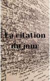 Image de couverture de La citation du jour