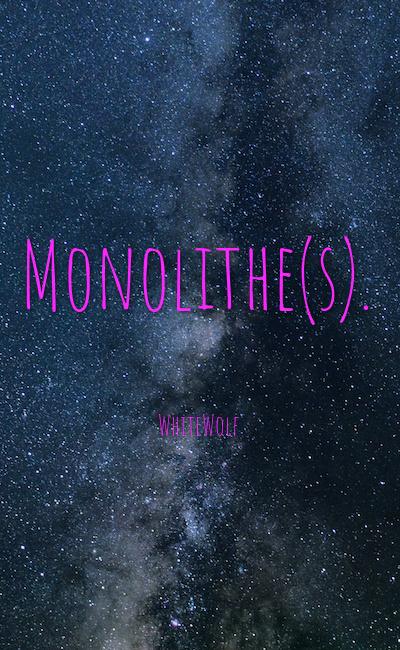 Image de couverture de Monolithe(s).