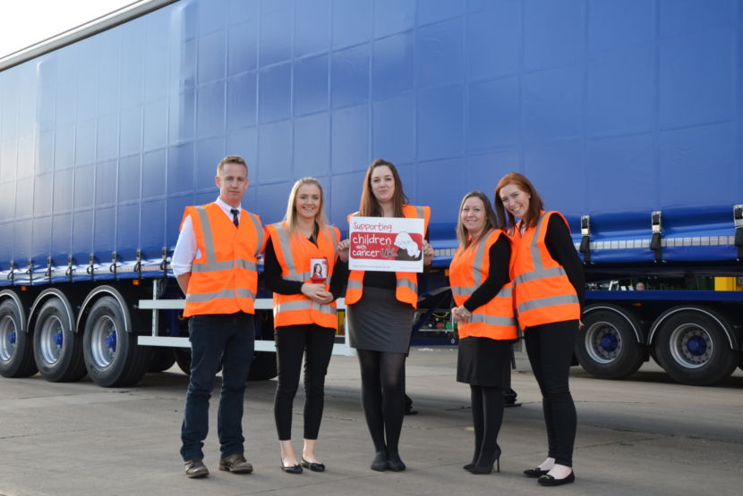Staff At Sdc Trailers And Children With Cancer Uk Charity