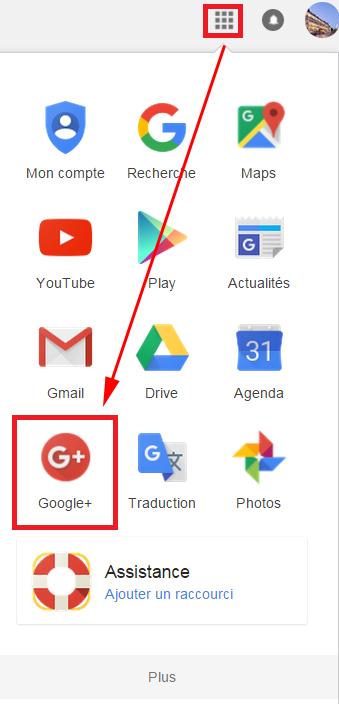 Accéder à Google+