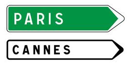 Les panneaux de direction code de la route 1 la circulation routi re l - Combien de panneau stop dans paris ...