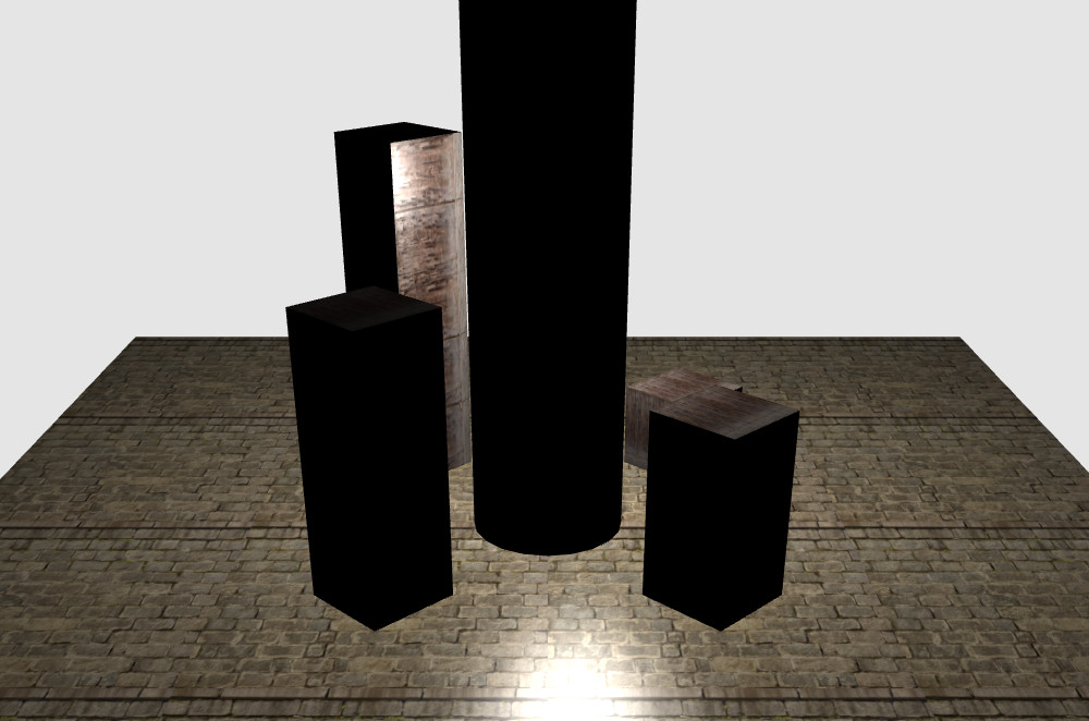 La lumière se trouve au milieu du cylindre et illumine donc les faces internes des caisses