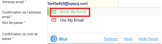 Mask my Email