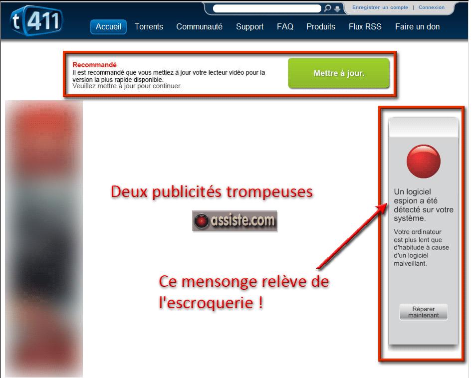 Un exemple de publicité mensongère. Source : assiste.com.