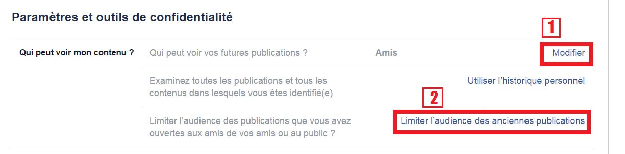 Modifier qui peut voir vos publications futures