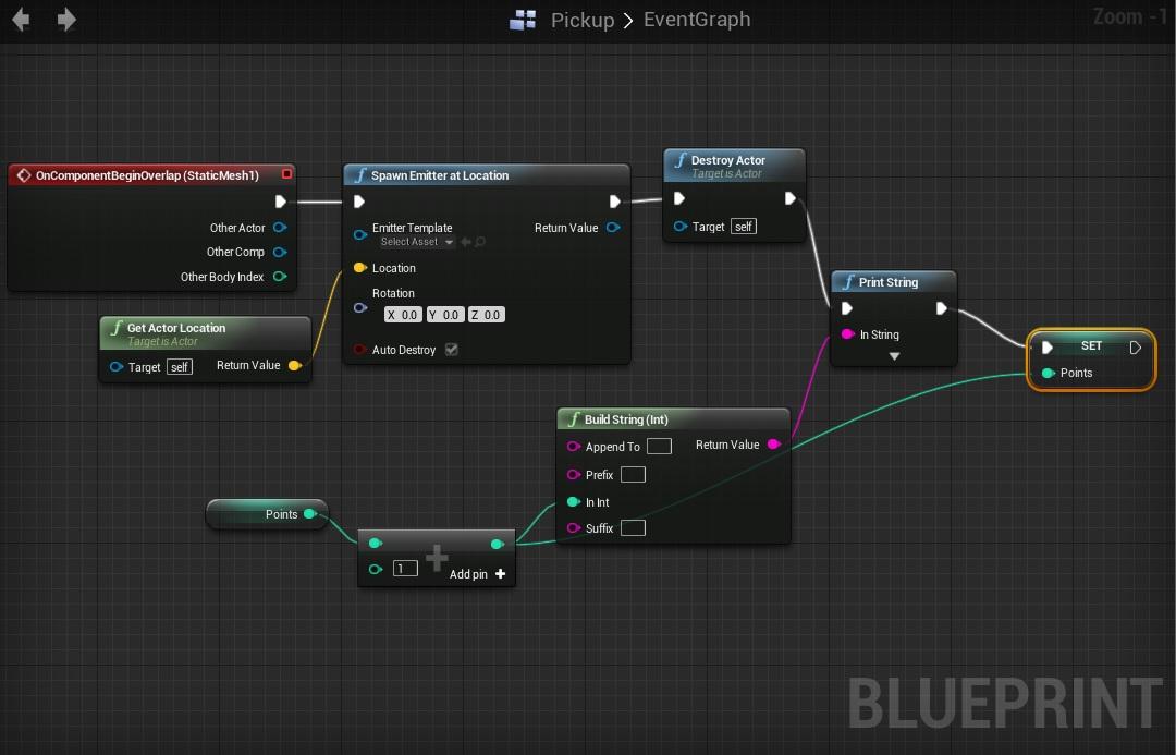 Exemple de code Blueprint