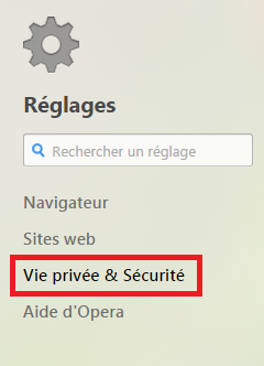 Vie privée et Sécurit