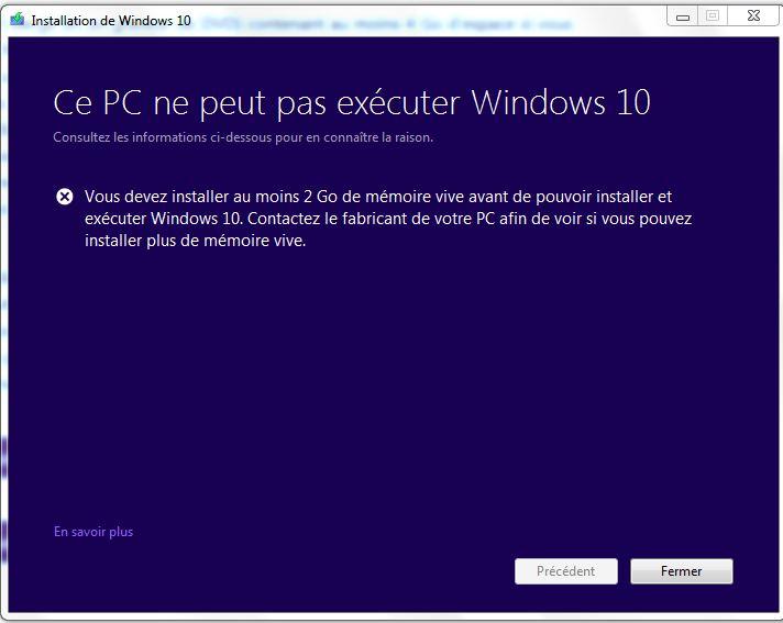 Probleme de memoire vive windows 10