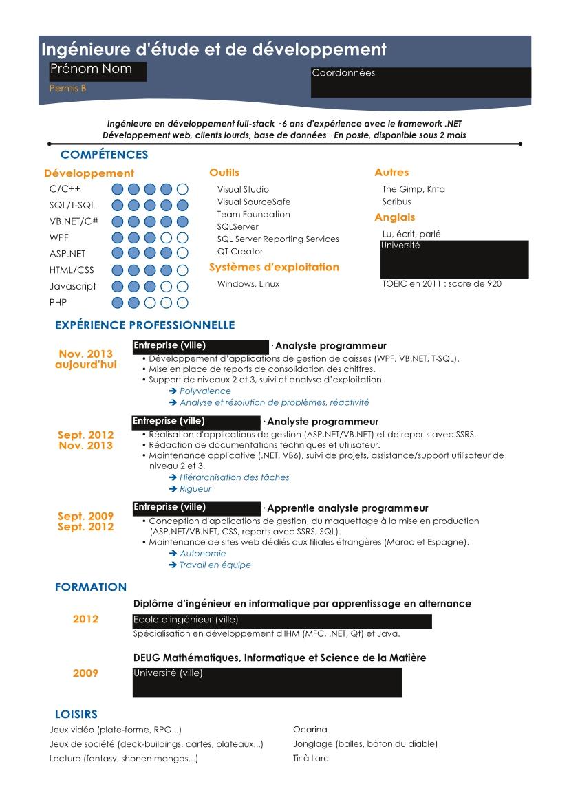pdf  cv en ligne gratuit a imprimer