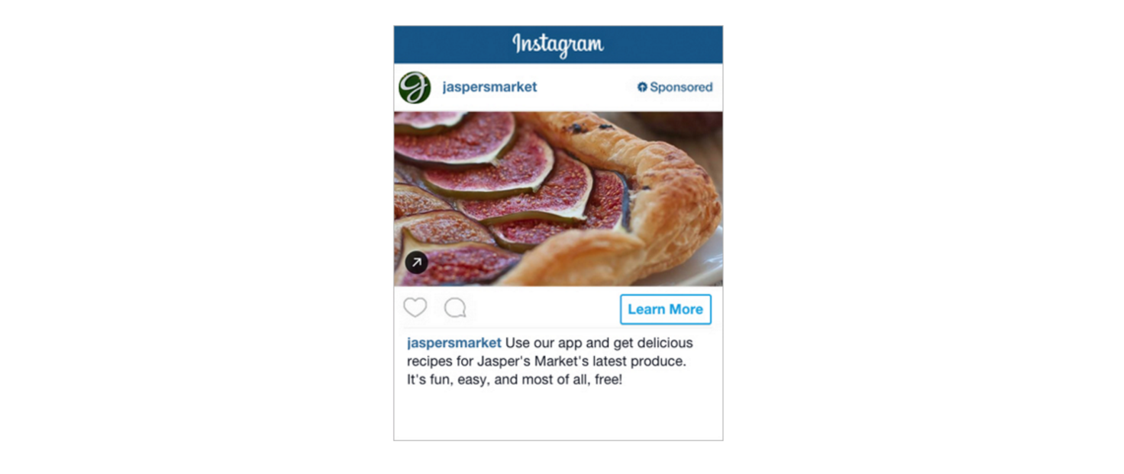 Publicité sur Instagram