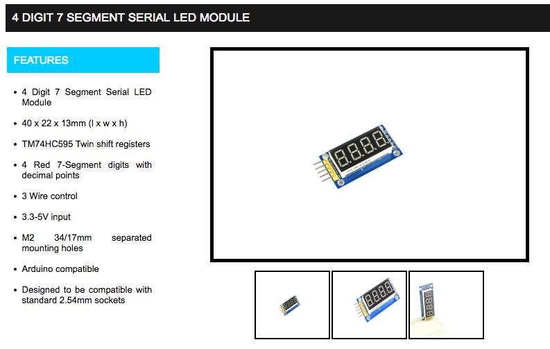 module afficheur 4 digits pour arduino par benjaminchrd